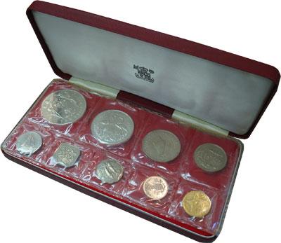 Изображение Наборы монет Багамские острова Выпуск 1969 1969  UNC Подарочный набор 196