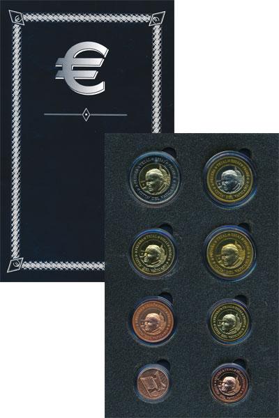 Изображение Подарочные монеты Ватикан Псевдо-евронабор 2004  UNC Представляем Вашему