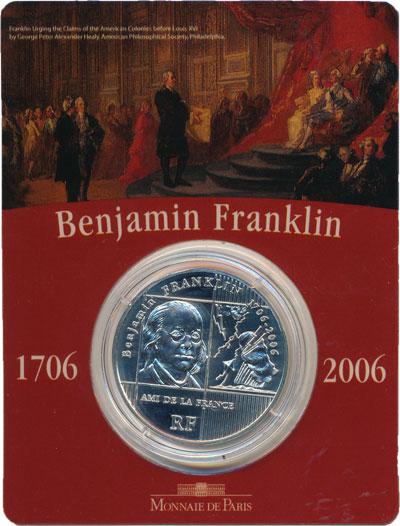 Изображение Монеты Франция 1/4 евро 2006 Серебро Proof Представляем Вашему