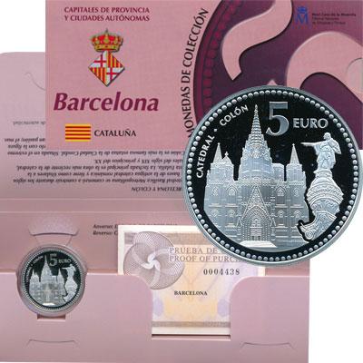 Изображение Подарочные монеты Испания Барселонский собор 2010 Серебро Proof Представляем Вашему