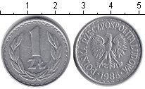 Изображение Барахолка Польша 1 злотый 1985 Алюминий VF