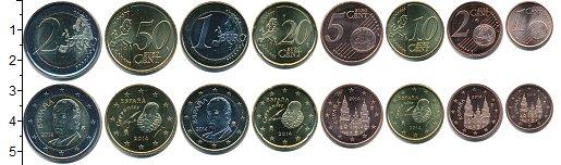 Изображение Наборы монет Испания Испания 2014 2014  UNC В наборе 8 монет ном