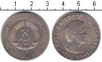 Монета ГДР 10 марок Серебро 1966 XF