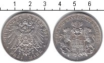 Изображение Монеты Гамбург 3 марки 1912 Серебро XF