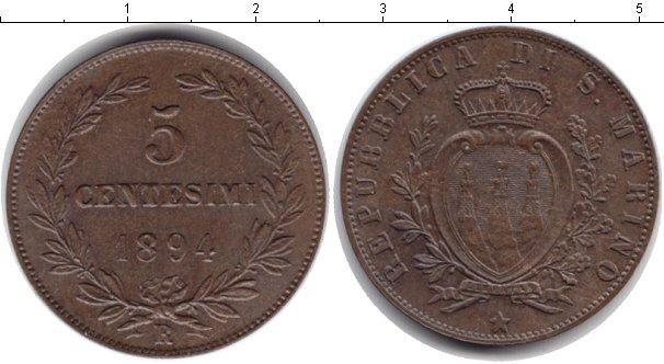 Картинка Монеты Сан-Марино 5 сентим Медь 1894