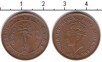 Изображение Монеты Шри-Ланка Цейлон 1 цент 1945 Медь XF