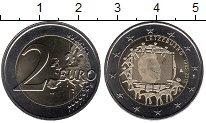 Изображение Мелочь Люксембург 2 евро 2015 Биметалл UNC