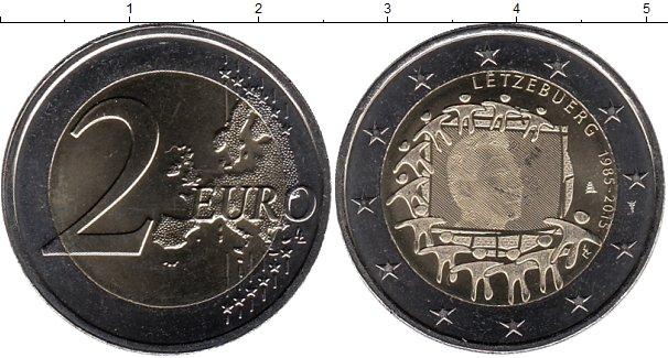 Картинка Мелочь Люксембург 2 евро Биметалл 2015