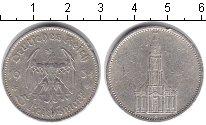 Изображение Монеты Третий Рейх 5 марок 1934 Серебро VF Подписная кирха. F