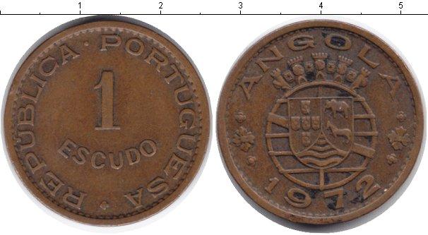 Картинка Монеты Ангола 1 эскудо Медь 1972