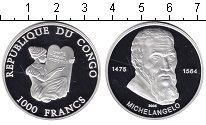 Изображение Монеты Конго 1000 франков 2005 Серебро Proof-