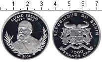 Изображение Монеты Бенин 1.000 франков 2004 Серебро Proof- Альфред Брем