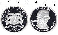 Изображение Монеты Бенин 500 франков 2006 Серебро Proof- Моцарт