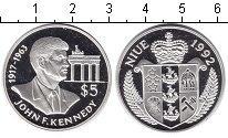 Изображение Монеты Ниуэ 5 долларов 1992 Серебро UNC-