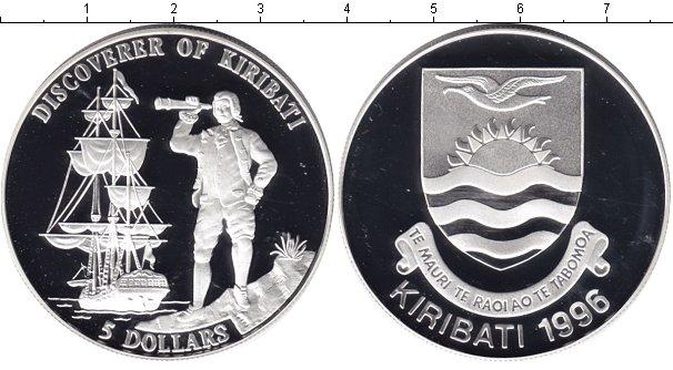 Картинка Монеты Кирибати 5 долларов Серебро 1996