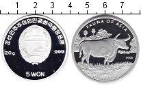 Изображение Монеты Северная Корея 5 вон 2002 Серебро Proof