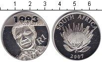 Изображение Монеты ЮАР 1 ранд 2007 Серебро XF Мандейла