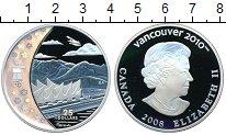 Изображение Монеты Канада 25 долларов 2008 Серебро Proof Олимпиада в Ванкувер