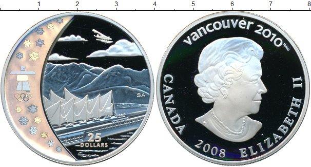 Картинка Монеты Канада 25 долларов Серебро 2008