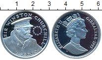 Изображение Монеты Гибралтар 14 экю 1993 Серебро Proof- Винстон Черччель