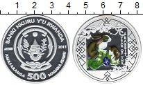 Изображение Монеты Руанда 500 франков 2011 Серебро Proof- Год кролика