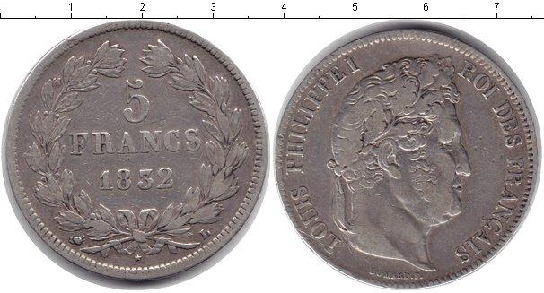 Картинка Монеты Франция 5 франков Серебро 1832