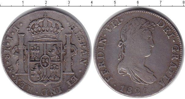 Картинка Монеты Испания 8 реалов Серебро 1820