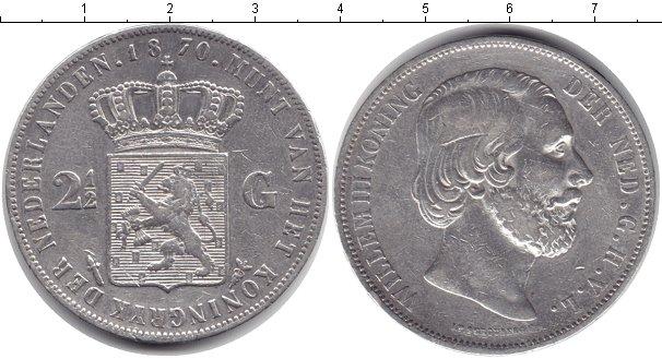 Картинка Монеты Нидерланды 2 1/2 гульдена Серебро 1870