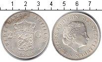 Изображение Монеты Антильские острова 2 1/2 гульдена 1864 Серебро XF