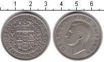 Изображение Монеты Новая Зеландия 1/2 кроны 1943 Серебро VF Георг VI