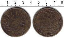 Изображение Монеты Мексика 8 риалов 1840 Медь VF Фальшивка.
