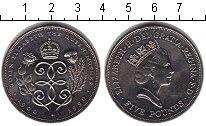 Изображение Монеты Великобритания 5 фунтов 1990 Медно-никель UNC- Елизавета II. Короле