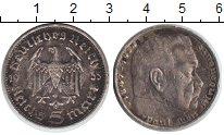 Изображение Монеты Третий Рейх 5 марок 1935 Серебро VF D. Пауль фон Гиндерб