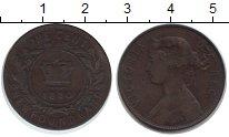 Изображение Монеты Ньюфаундленд 1 цент 1880 Медь VF Виктория