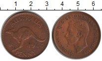 Изображение Монеты Австралия 1 пенни 1944 Медь XF Георг VI. Кенгуру