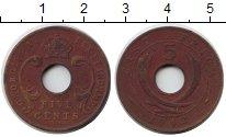 Изображение Монеты Восточная Африка 5 центов 1942 Медь XF