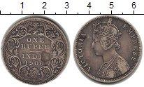 Изображение Монеты Индия 1 рупия 1900 Серебро VF Виктория