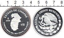 Изображение Монеты Мексика 10 песо 2006 Серебро Proof- Индеец майя