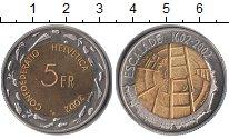 Изображение Монеты Швейцария 5 франков 2002 Биметалл UNC- 400 лет Escalade