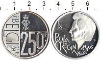 Изображение Монеты Бельгия 250 франков 1997 Серебро UNC-