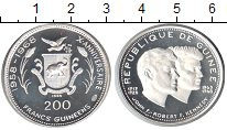 Изображение Монеты Гвинея 200 франков 1969 Серебро Proof- Джон и Роберт Кеннед