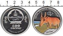 Изображение Монеты Монголия 500 тугриков 2011 Серебро Proof-
