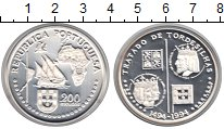 Изображение Монеты Португалия 200 эскудо 1994 Серебро UNC- Тордесильяский догов
