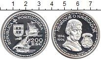 Изображение Монеты Португалия 200 эскудо 1994 Серебро Proof- Генрих Навигатор