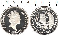 Изображение Монеты Австралия 5 долларов 1990 Серебро Proof