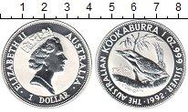 Изображение Монеты Австралия 1 доллар 1992 Серебро Proof