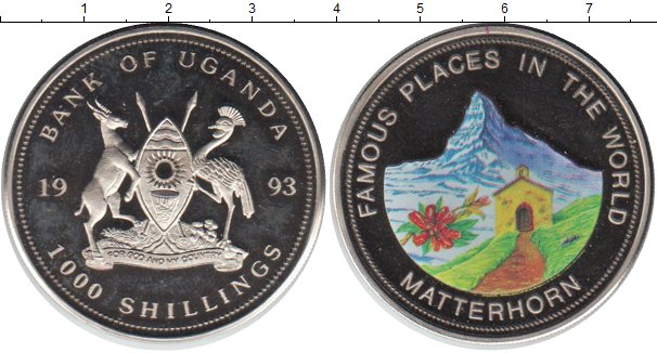 Картинка Монеты Уганда 1.000 шиллингов Медно-никель 1993