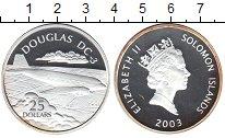Изображение Монеты Соломоновы острова 25 долларов 2003 Серебро Proof- Елизавета II. Дуглас