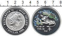 Изображение Монеты Ниуэ 1 доллар 2009 Серебро Proof- Елизавета II. Год бы