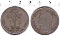 Изображение Монеты Бельгийское Конго 1 франк 1926 Медно-никель VF